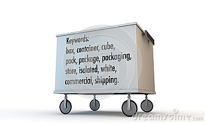 Box with wheels and keywords