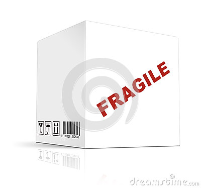 Box on white background