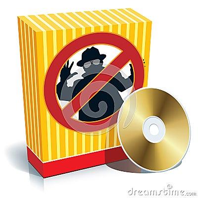 Free Box With Anti-spy Sign Royalty Free Stock Photo - 5841875