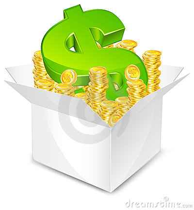 Free Box With Money Royalty Free Stock Image - 20472636