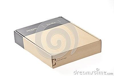 Boxed E-Book Reader Amazon Kindle 3 Editorial Photography