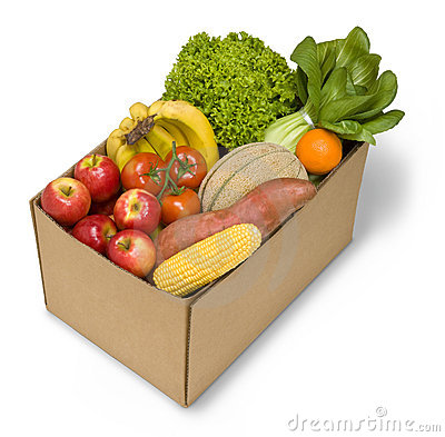Box Fruit Vegetables Food