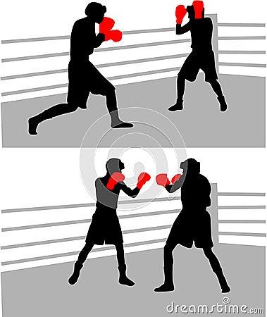 Boxender Kampf