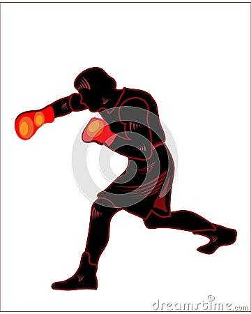 Boxer,black silhuette