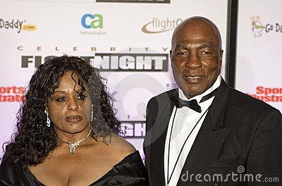 Boxer Ernie Shavers at Celebrity Fight Night Editorial Photo