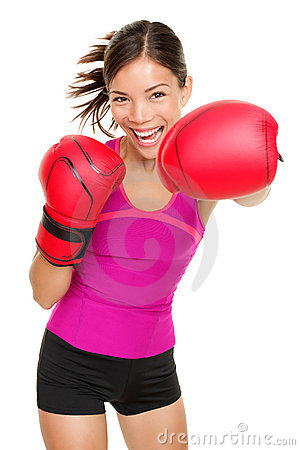 Boxer - fitness woman boxing