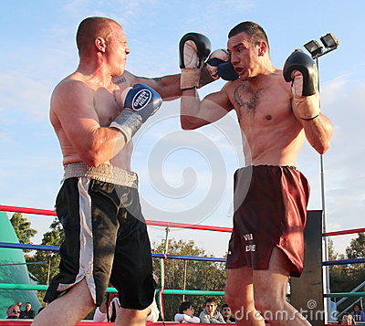 Boxer Luca Tassi vs Sandor Ramocsa match Editorial Stock Photo