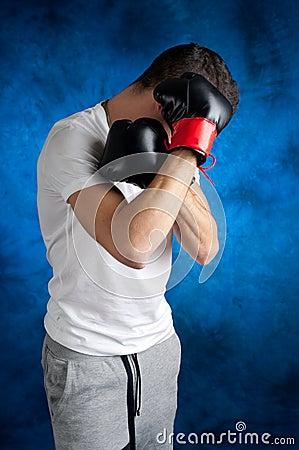 Boxer  protecting itself
