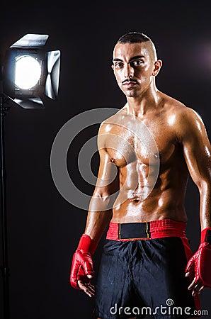 Boxer and studio lights