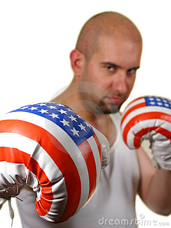 Free Boxer With Red Gloves Royalty Free Stock Photos - 2429548