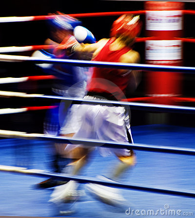 Free Boxers At The Ring Royalty Free Stock Photography - 10399287