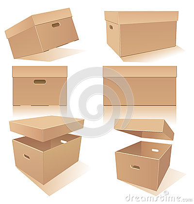 Cardboard Box With Lids Stock Images - Image: 20135924