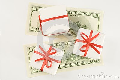 Boxes on monetary banknotes