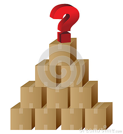 Boxes and a question mark in top