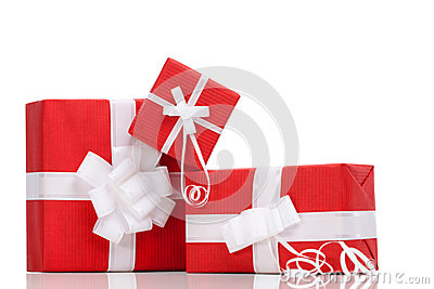 Boxes with xmas presents
