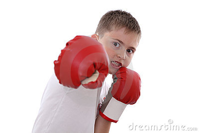 Boxing boy
