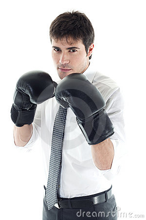 Free Boxing Businessman Royalty Free Stock Photography - 14781457