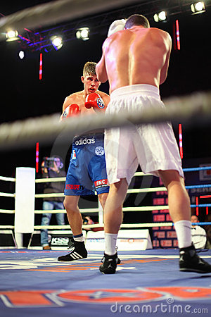 Boxing: D.Arustamyan vs A.Vastin Editorial Stock Photo