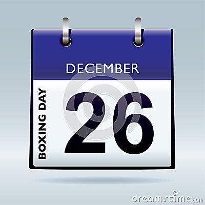 Boxing day calendar blue
