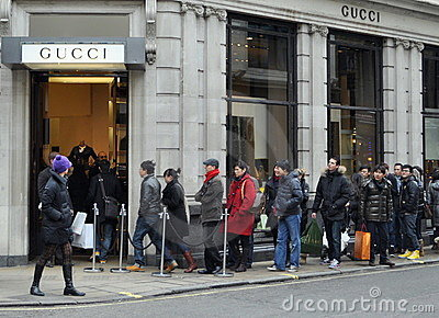 Boxing day sales on Bond Street, London Editorial Photo
