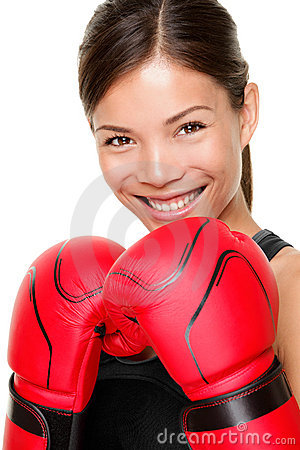 Boxing fitness woman