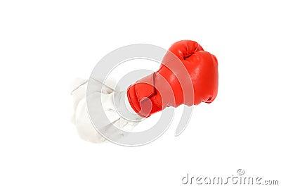 Boxing glove, hand.