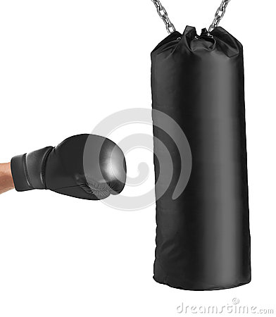 Free Boxing Glove Punches Punching Bag Royalty Free Stock Image - 68469256