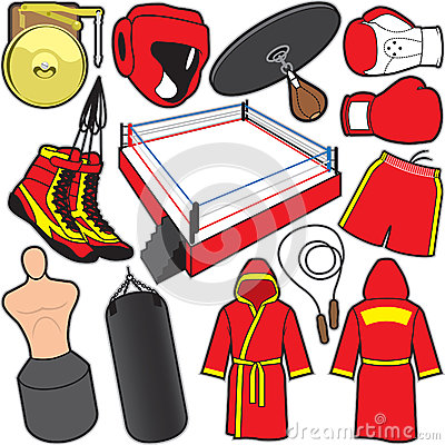 Free Boxing Items Royalty Free Stock Photo - 43753455
