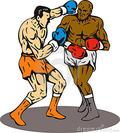 Boxing knockout punch winner