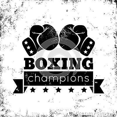boxing logo stock vector image 52332677