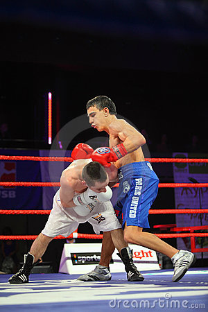 Boxing match: A.Avtorkhanov vs N.Ubaali Editorial Stock Photo