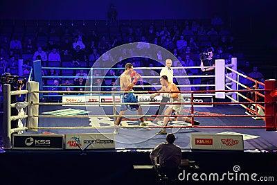 Boxing match I.Ismailov vs F.Khrgovich Editorial Stock Photo
