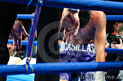 Boxing match for WBC Intercontinental Title Editorial Photography
