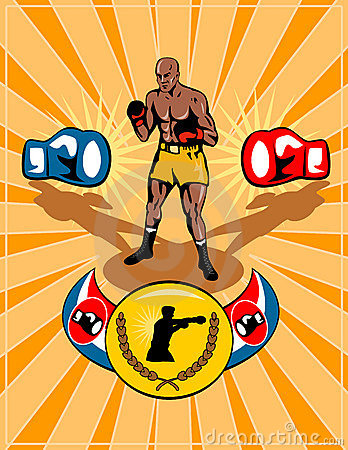 Boxing poster retro style