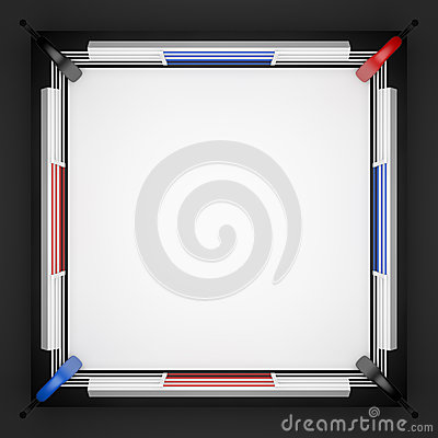 Boxing Ring Top View Stock Illustration Image 51616246