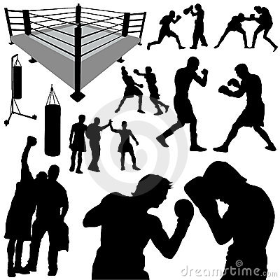 Free Boxing Silhouettes Royalty Free Stock Photos - 8617478