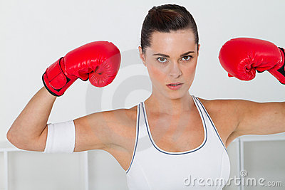 Boxing woman