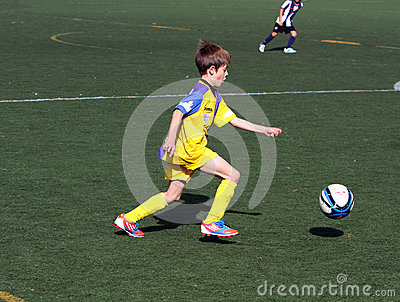 Boy on the Alicante City Youth Soccer Cup Editorial Stock Photo