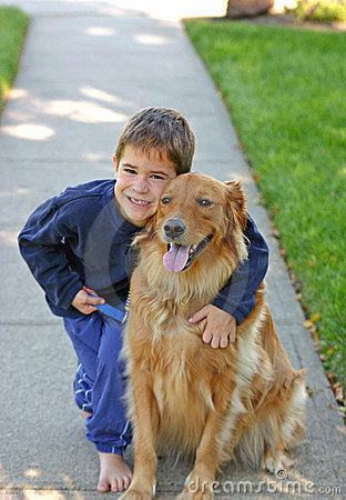 Free Boy And Dog Royalty Free Stock Photo - 1324545