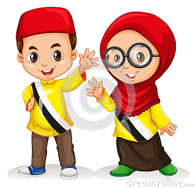 Free Boy And Girl From Brunei Royalty Free Stock Photo - 58649065