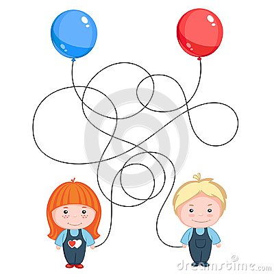 Free Boy And Girl Hold Balloons Stock Photos - 108661613