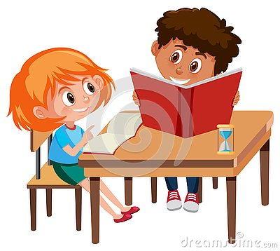 Free Boy And Girl Study Stock Image - 130821671