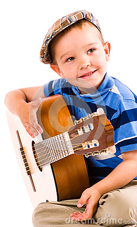 Free Boy And Guitar Royalty Free Stock Images - 31862219