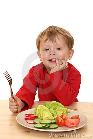 Free Boy And Vegetables Royalty Free Stock Images - 2485829