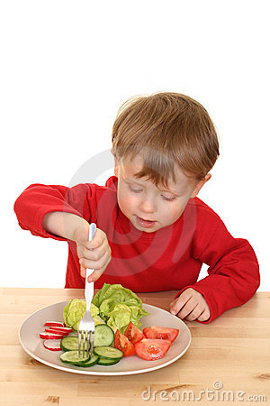 Free Boy And Vegetables Stock Photo - 2485840