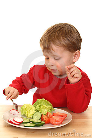 Free Boy And Vegetables Royalty Free Stock Photo - 2485845