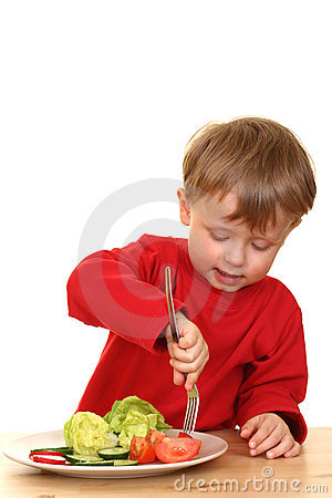 Free Boy And Vegetables Stock Photos - 2485853