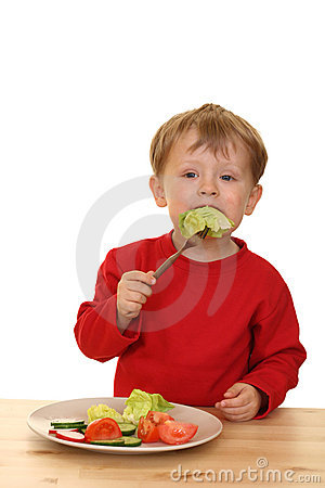 Free Boy And Vegetables Royalty Free Stock Photos - 2485858