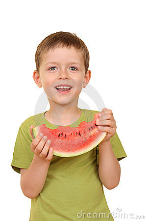 Free Boy And Watermelon Stock Images - 2632654