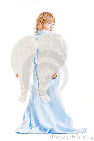 Boy with angel wings